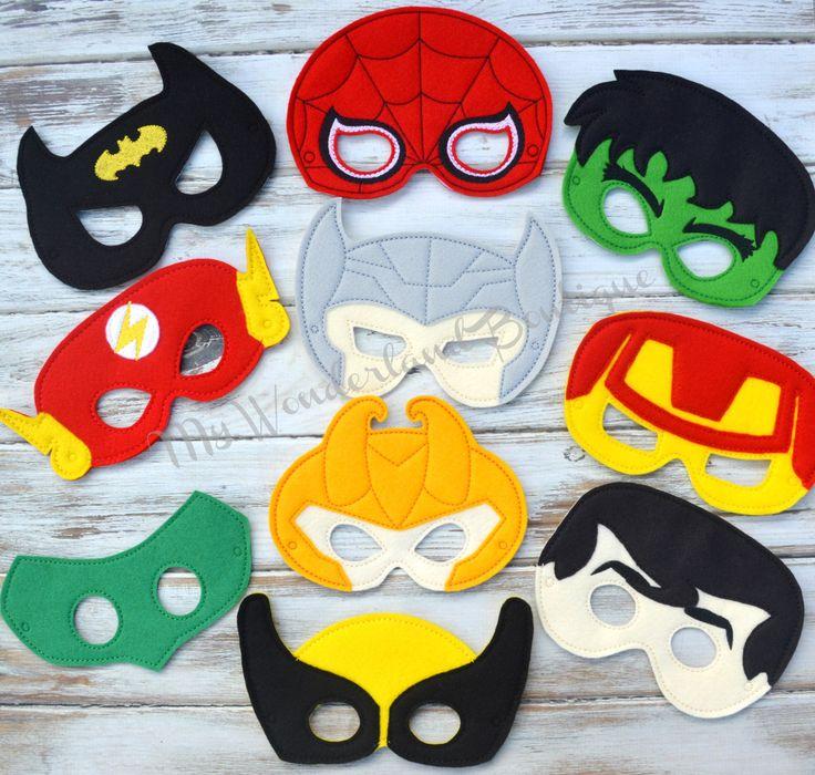 Super Hero Mask by MyWonderlandBoutique on Etsy