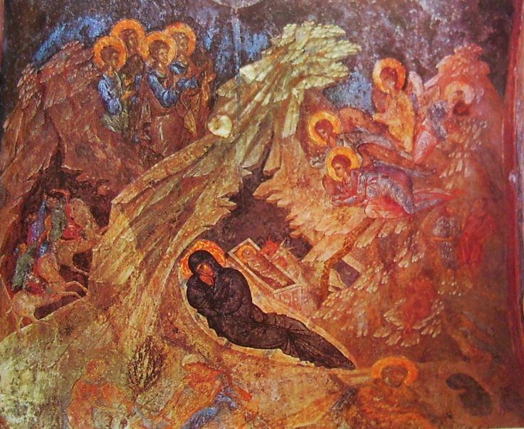 Misztra, Peribleptosz-templom freskói, 14. sz. II. fele-IV. negyede: Karácsony