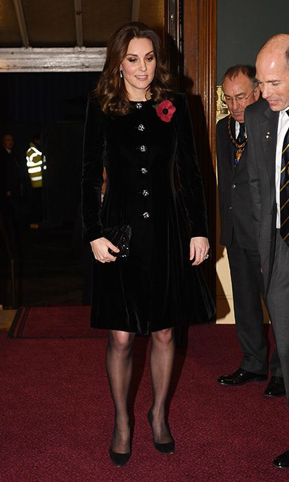 The Duchess of Cambridge attended the annual Royal Festival of Remembrance at the Royal Albert Hall in London on Saturday (Nov 11) with the Queen.