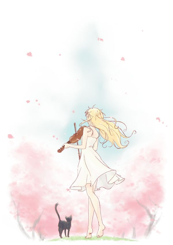 Shigatsu wa Kimi no Uso | Your Lie in April |  Kawori Miyazono | Anime | Fanart | SailorMeowMeow