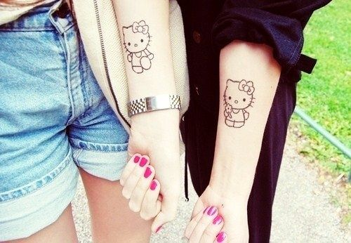 nice Friend Tattoos - Cute Hello Kitty Tattoo for Adorable Girls...