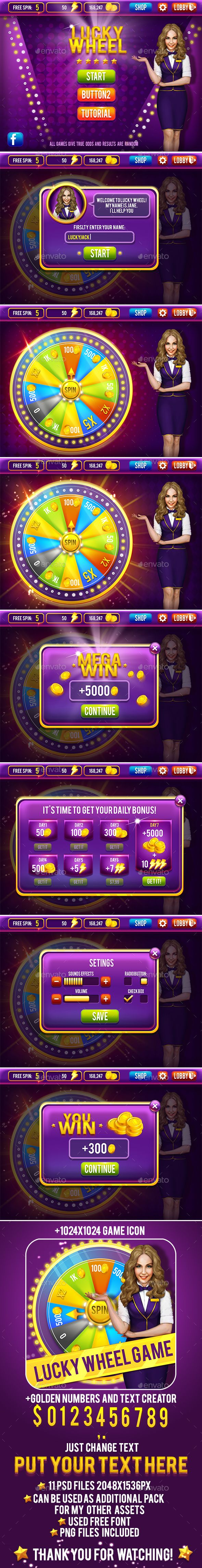 Casino Lucky Wheel Game Pack - Game Kits Game Assets