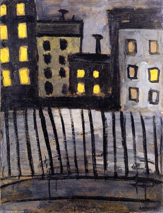 Auguste Chabaud | Lighted windows, 1907