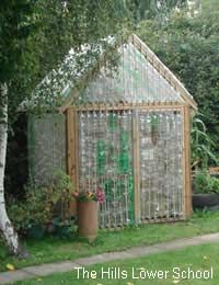 Build your own greenhouse from plastic bottles!