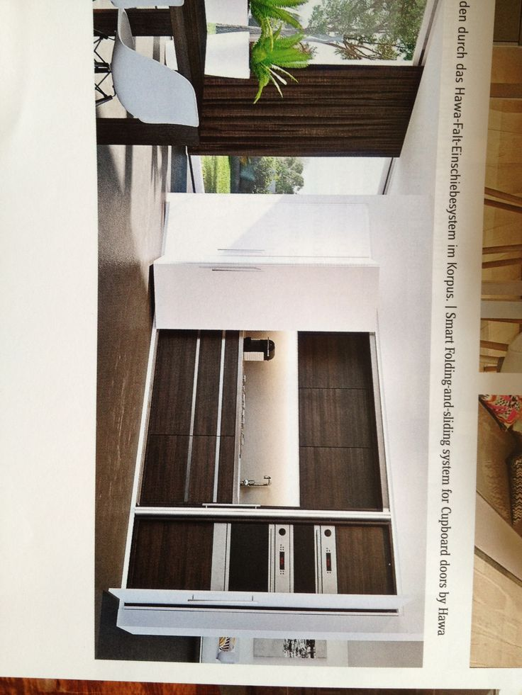 Smart Folding and sliding system for cupboard doors by Hawa