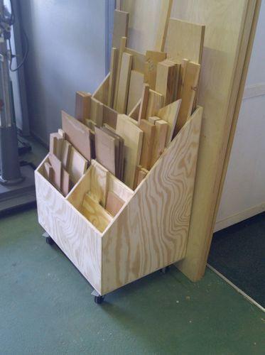 Scrap wood storage cart.