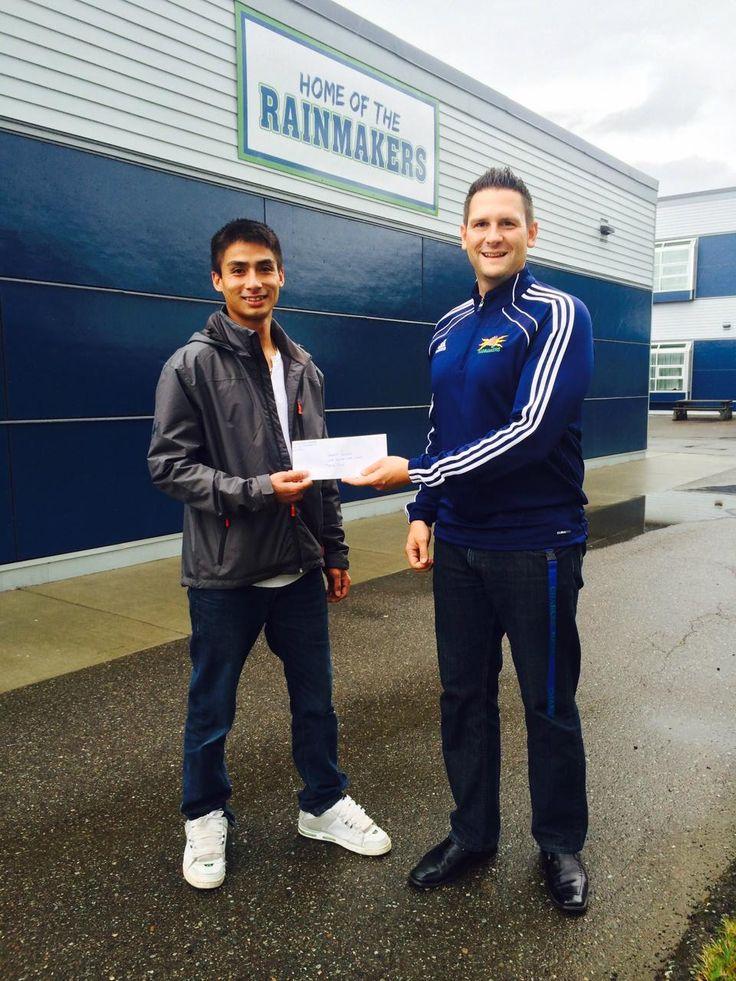 Prince Rupert Rainmakers Basket Ball Team Fundraiser - Hawkair Gift Certificate Winner