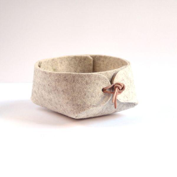 """Felt containers """"string"""" by Louise Vilmar, via Behance"""