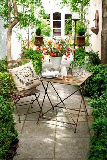 Buscando inspiración para el jardín...