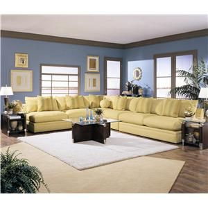 Klaussner Melrose Place Four Piece Sectional   D7600AC+CORN+2xALS Beverly  Hall