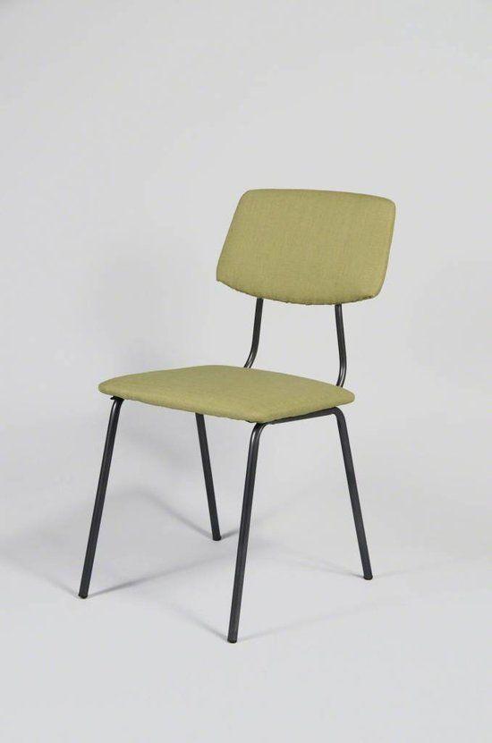 Deconation Vintage  - Stoel - lime groen - Set van 4