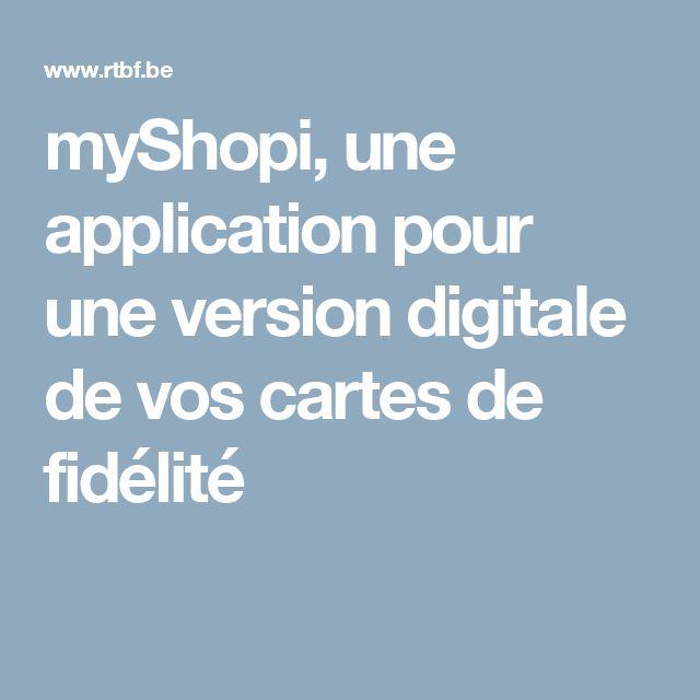 myShopi, une application pour une version digitale de vos cartes de fidélité