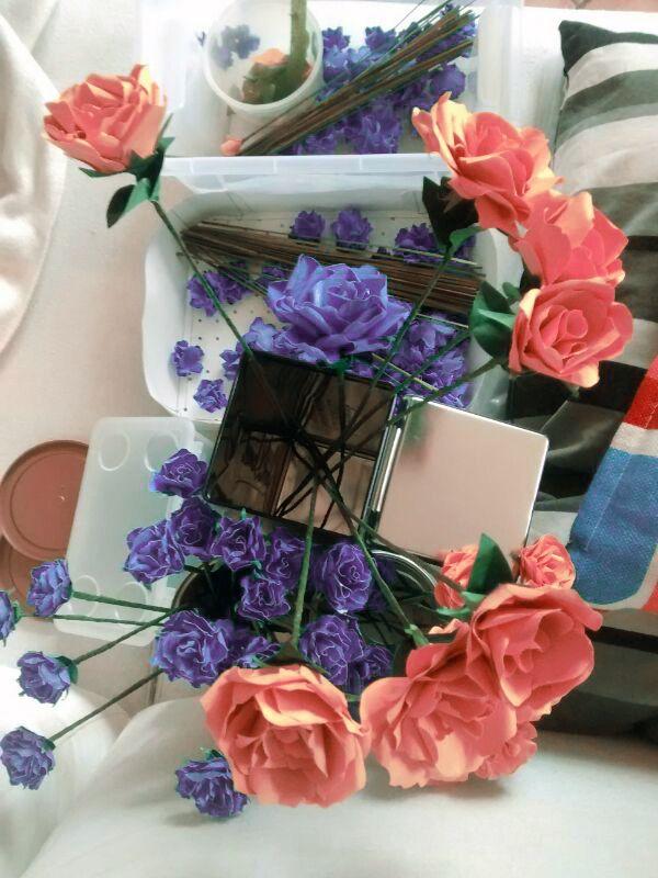 Roses in progress - #paper #flower #flowers #paperflowers #rose #roses