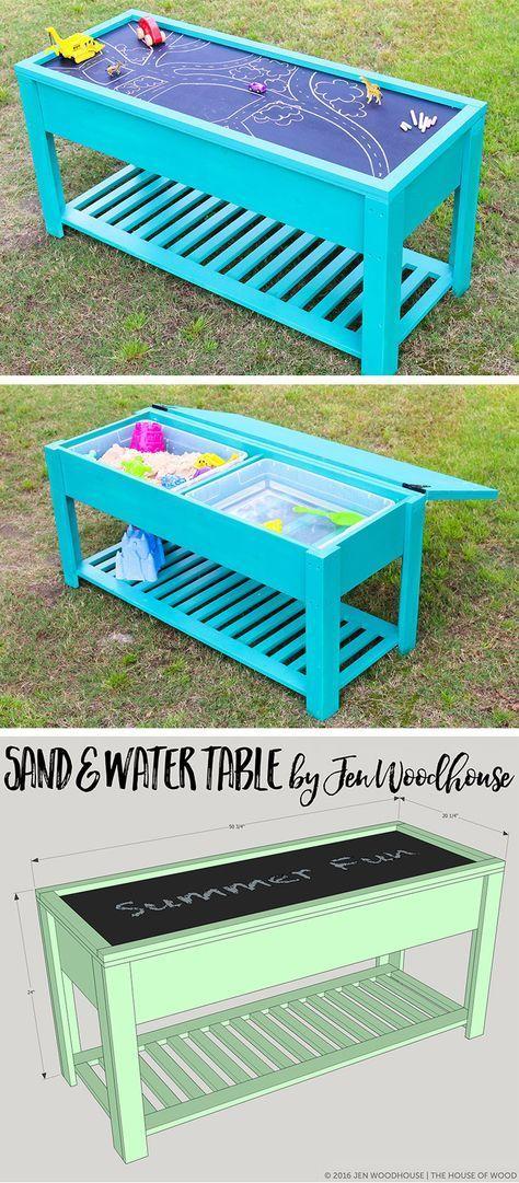 Wasser und Sand versteckt unter einerTafelperfekt für draußen