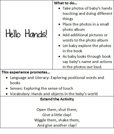 At play with baby: hello hands! | Teach Preschool