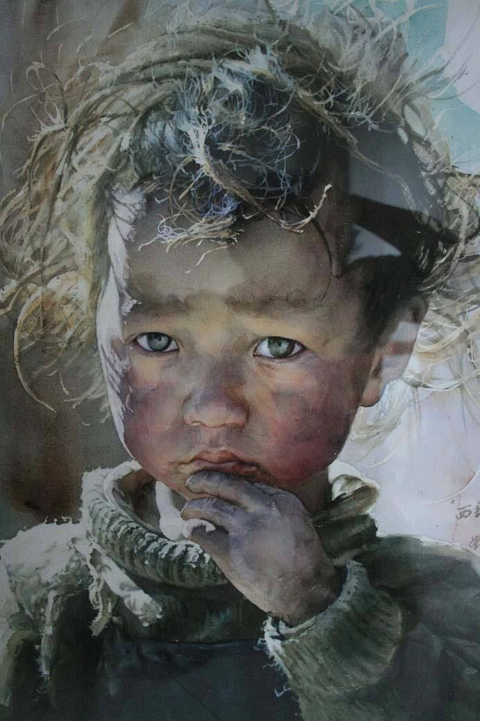 Stunning Watercolor Painting by: Chinese artist Liu Yunsheng