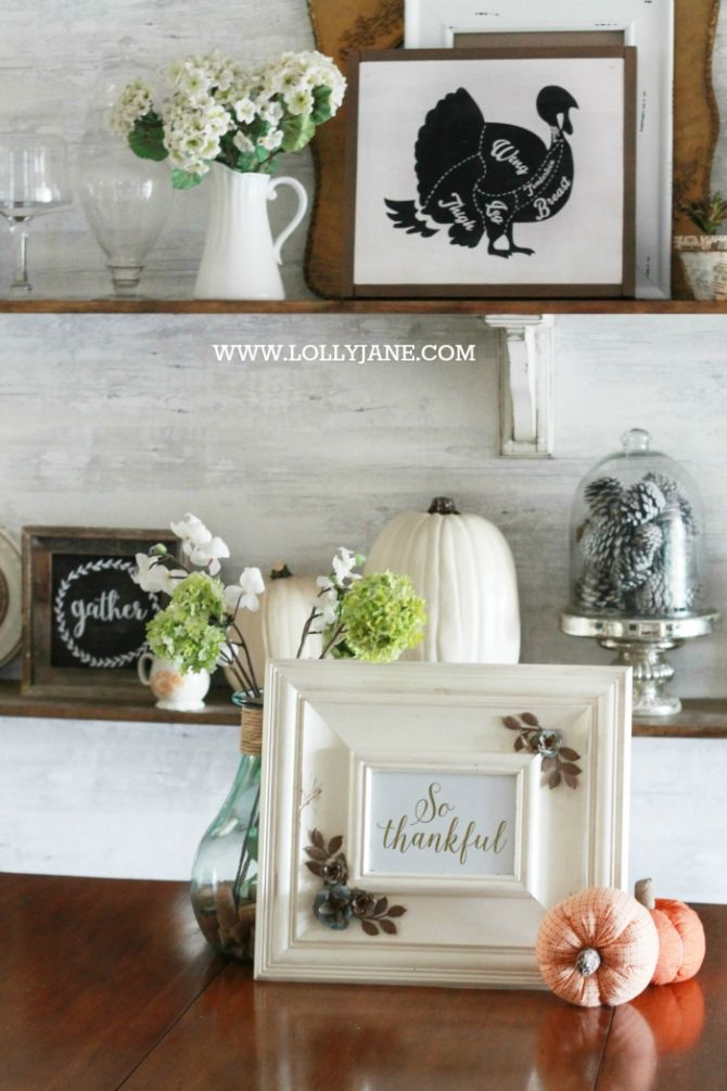 Thanksgiving dining room decorations beautiful pumpkins for Dining room decorating ideas for thanksgiving