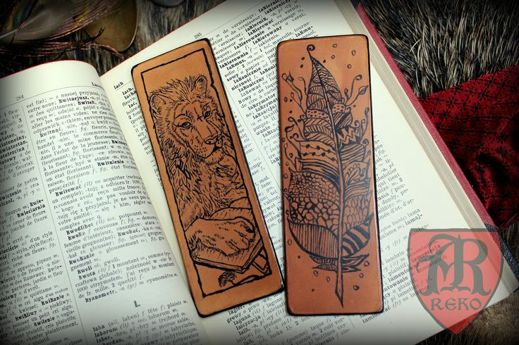 Hand made leather bookmark made by Pracownia REKO