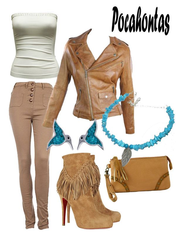 Disney Fashion: Pocahontas (Tribe Dress) by EvilMay.deviantart.com on @deviantART