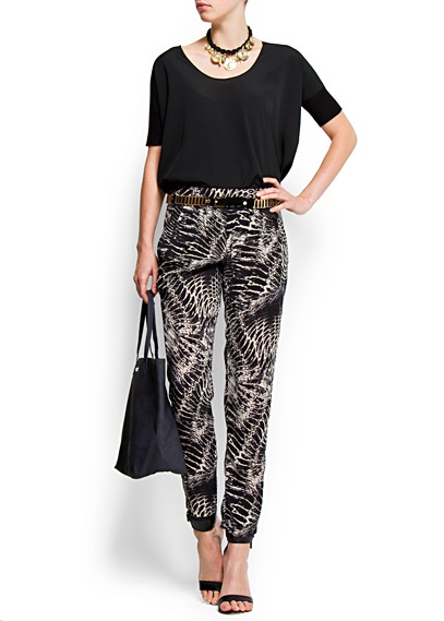 MANGO - print pants styling