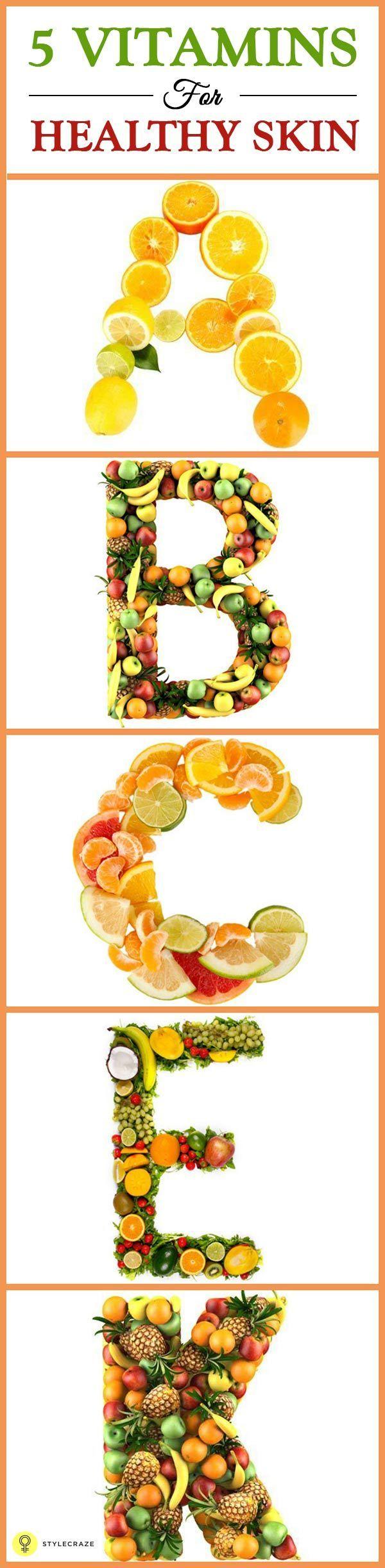 5 Essential #Vitamins For Healthy #Skin