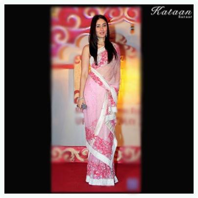 #Kareena Kapoor in a Pink saree