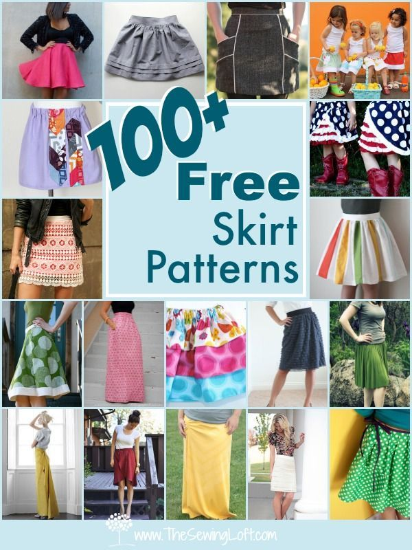 100+ free skirt patterns.  Easy sewing for any skill level.