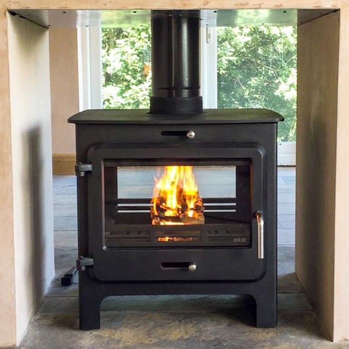 Ekol Clarity Double Sided Multifuel/Woodburning Stove - Stoves Are Us