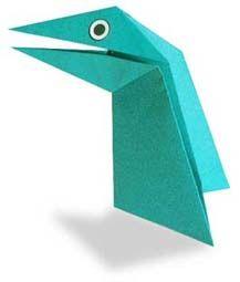 Origami Wiggling Dinosaur