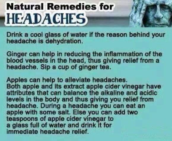 remedies for headache health tips pinterest. Black Bedroom Furniture Sets. Home Design Ideas