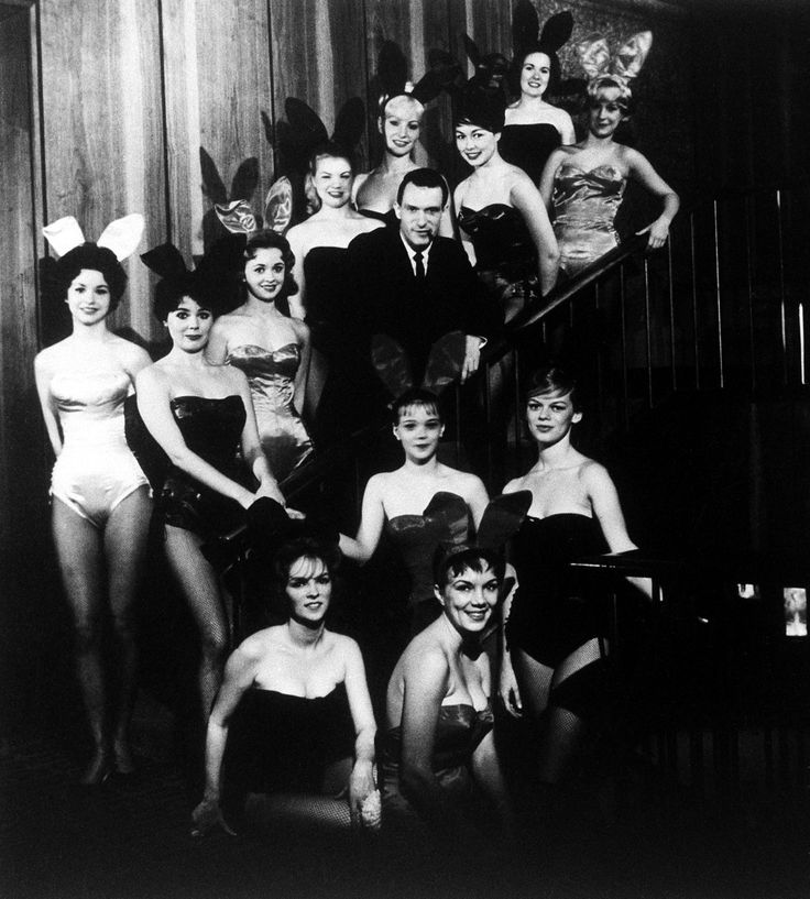 Hugh Hefner, founder and chairman of the Playboy Enterprises, Inc., is pictured amid a group of Bunnies, at the flagship Playboy Club, in Chicago, Ill., circa 1960. (AP Photo) via @AOL_Lifestyle Read more: http://www.aol.com/article/2016/09/27/the-first-woman-to-wear-a-hijab-in-playboy-is-an-activist-and-jo/21480623/?a_dgi=aolshare_pinterest#fullscreen