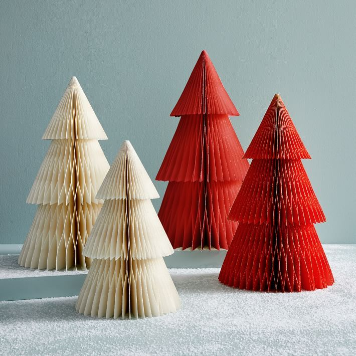 Accordion Paper Trees Traditional Christmas Tree Modern