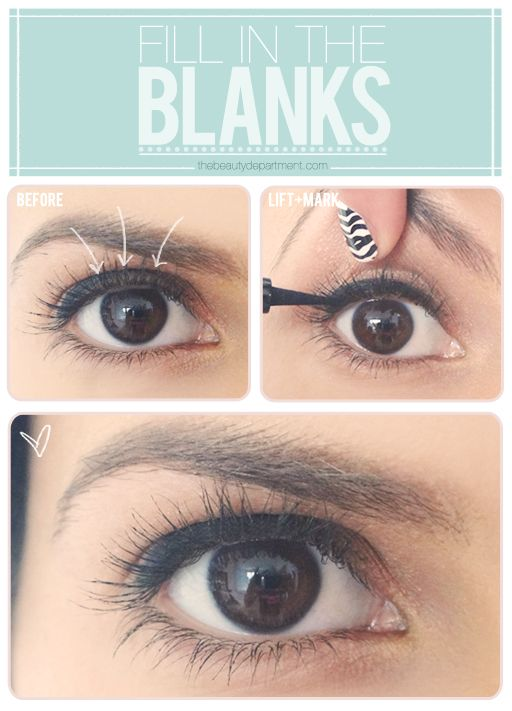 Quick tip! Fill in the blanks with your liner for a more finished look!