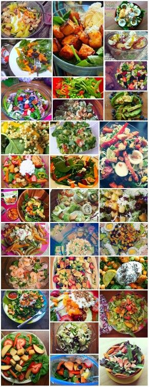 Lots of great salads ..love cheese ...steak ...chicken ..shrimp hell bacon Yada yada you get my drift..on my salads all gluten free