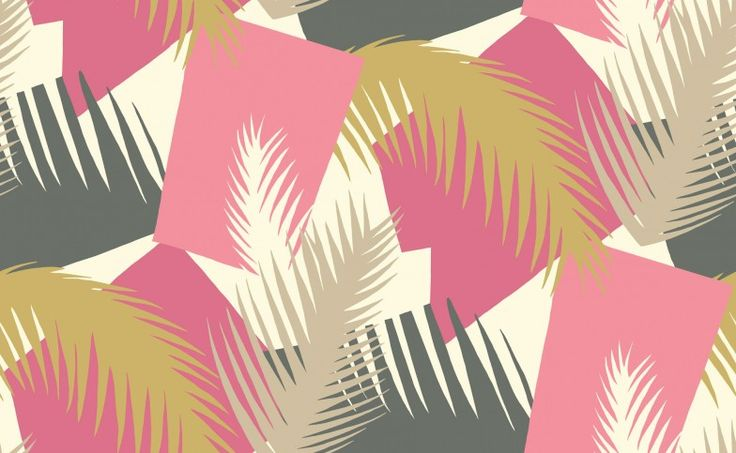 Image result for cole and son deco palm pink