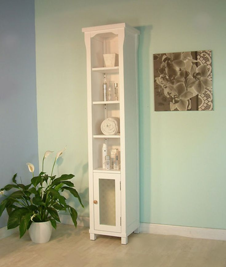 awesome skinny white painted wooden cabinet with small glass door with bathroom cabinet tall also tall
