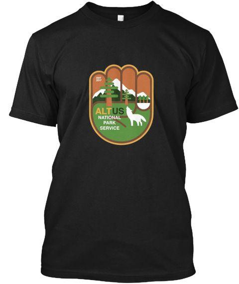 Alt Us National Park Service T Shirt Black T-Shirt Front