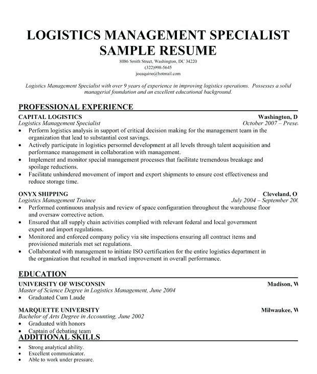 Resume Examples Logistics Resume Examples Resume Examples Human Resources Resume Sample Resume