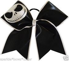 Halloween Jack Large Cheer Hair Bow Cheerleading