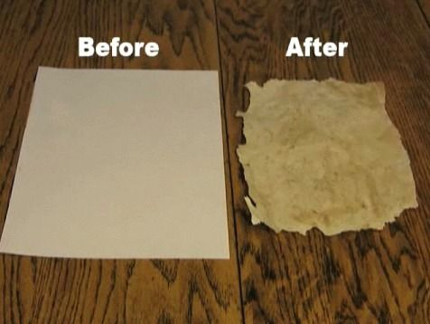 how to make old paper using tea