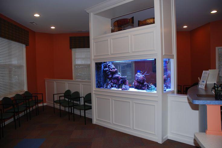 Custom built 250 gallon saltwater reef aquarium custom aquariums pinterest aquarium reef - Fish tank partition wall ...