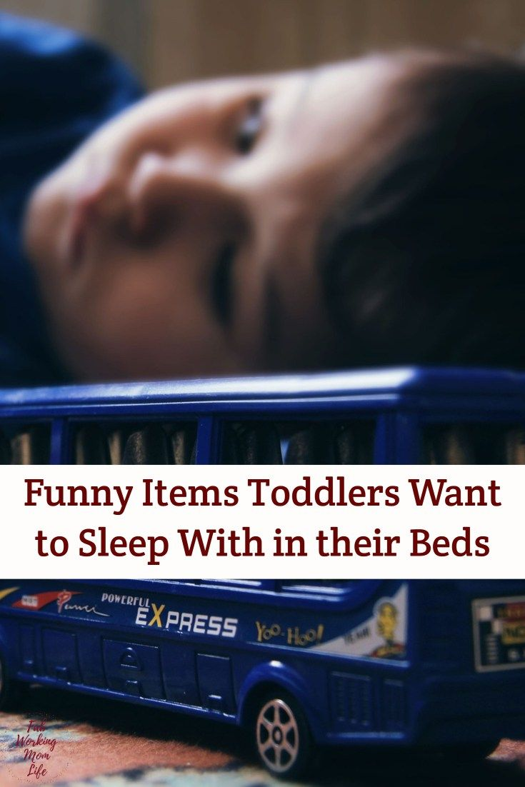 Funny Items Toddlers Want to Sleep With in their Beds #toddler #momlife #parenting