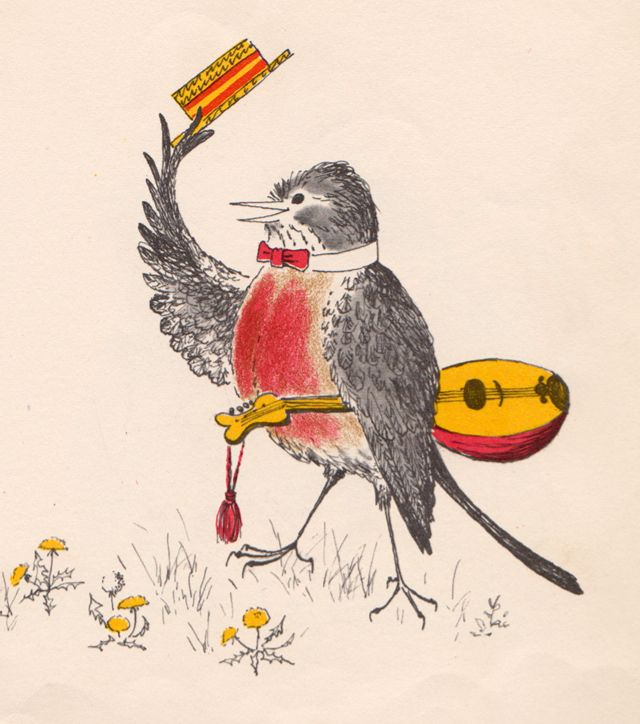 'The Courtship, Merry Marriage, and Feast of Cock Robin and Jenny Wren' illustrated by Barbara Cooney