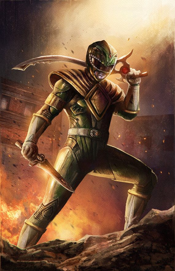 Green Ranger Print by PinkHavok on Etsy You can But It Here: https://www.etsy.com/listing/189073425/green-ranger-print?ref=shop_home_active_10