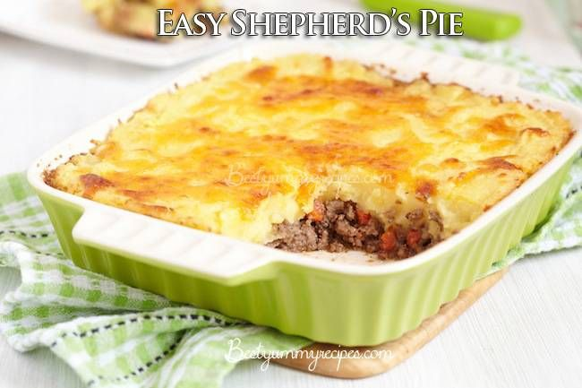 "Easy Shepherd's Pie Shepherd's Pie is originally an English dish, traditionally made with lamb or mutton. Americans typically make Shepherd's Pie with beef, I think mostly because we are much more of a beef-eating culture than a lamb-eating one. The English (and Australians and some New Zealanders) call the beef dish a ""cottage pie"". Naming conventions …"