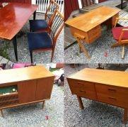 Diverse möbler 50/60-tal. Stolar  bord  m.m