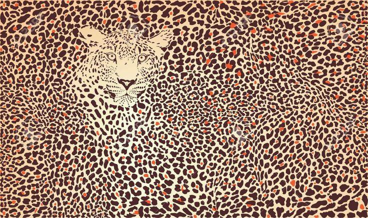 Ilustración Del Patrón De Fondo Pieles De Leopardo Y La Cabeza Ilustraciones Vectoriales, Clip Art Vectorizado Libre De Derechos. Image 13926772.