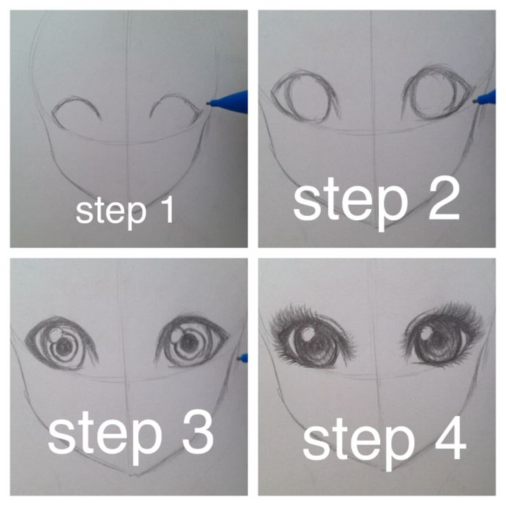 Most requested eye tutorial. This time both eyes! Step 1: Lash Lines! Step 2: Circles for the eyes. Step 3: Pupil & twinkle. Step 4: Details! Flick the pencil to draw eyelashes. Color in dark to light