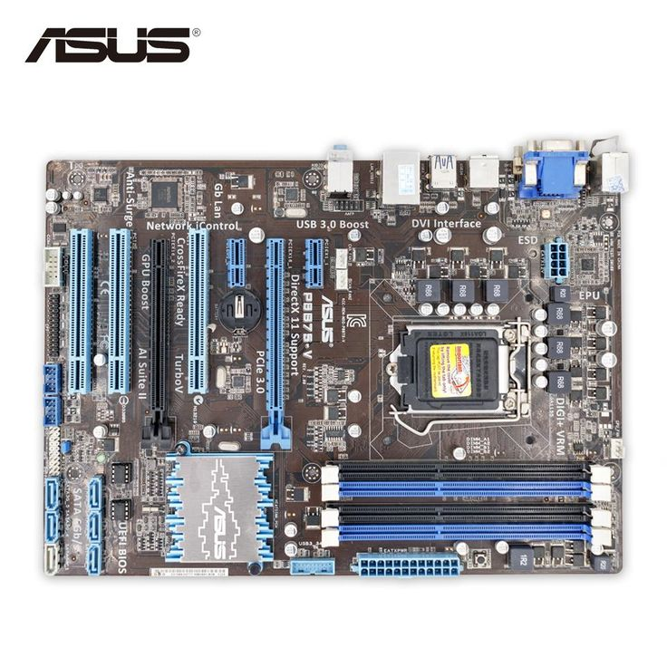 Asus P8B75-V Original Used Desktop Motherboard B75 Socket LGA 1155 i3 i5 i7 DDR3 32G SATA3 USB3.0 ATX On Sale