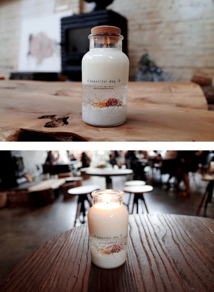 Under the sea. The sea is placed in a bottle candle.  #candle #design #gel #sea #interior #handmade #atelier #cocomellow #캔들 #캔들공방 #코코멜로우